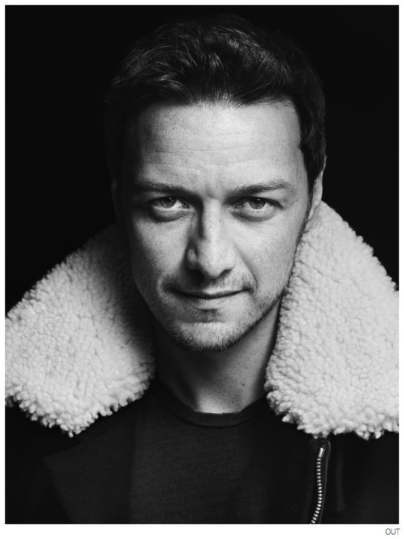 James Mcavoy (from X-Men) covers OUT magazine October 2014 ...