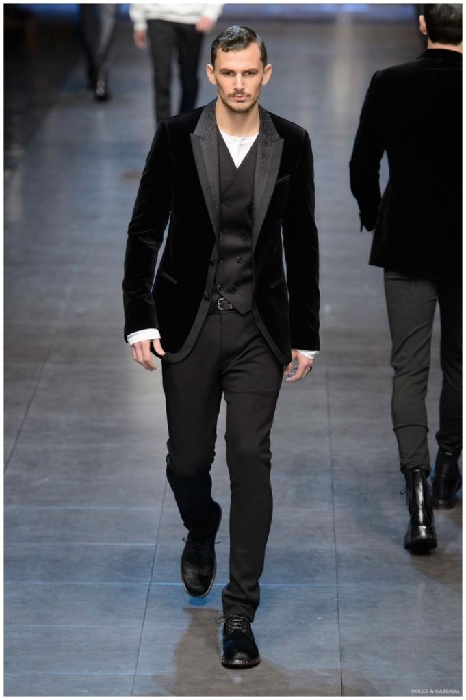 fbc28f388457b Milan Fashion Week Review  Dolce   Gabbana Fall Winter 2015 Menswear  Collection!