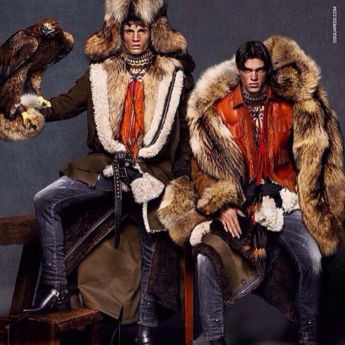 Dsquared2-Fall-Winter-2015-Campaign-Fur-Fashions