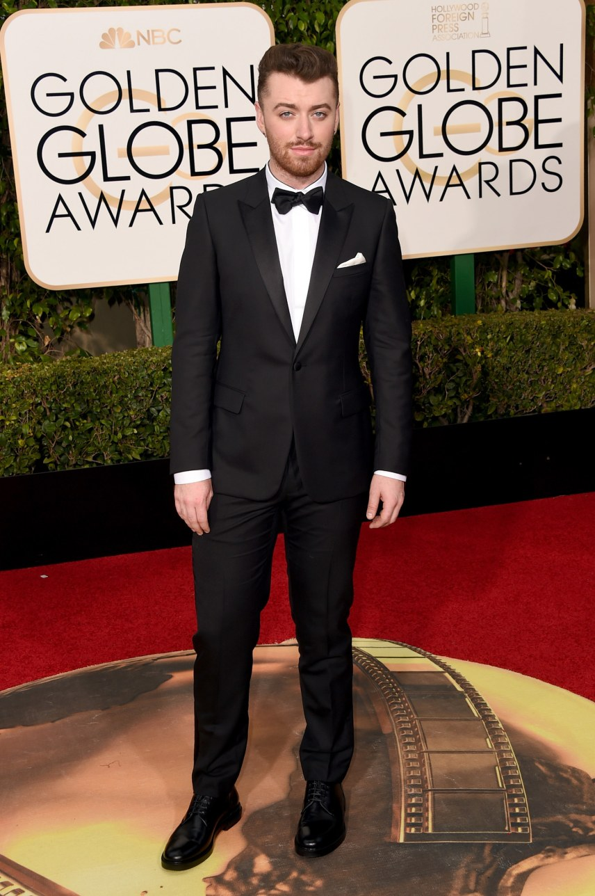 BEVERLY HILLS, CA - JANUARY 10: Singer Sam Smith attends the 73rd Annual Golden Globe Awards held at the Beverly Hilton Hotel on January 10, 2016 in Beverly Hills, California. (Photo by Jason Merritt/Getty Images)