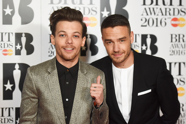 LONDON, ENGLAND - FEBRUARY 24:  Louis Tomlinson (L) and Liam Payne attend the BRIT Awards 2016 at The O2 Arena on February 24, 2016 in London, England.  (Photo by Dave J Hogan/Dave J Hogan/Getty Images)