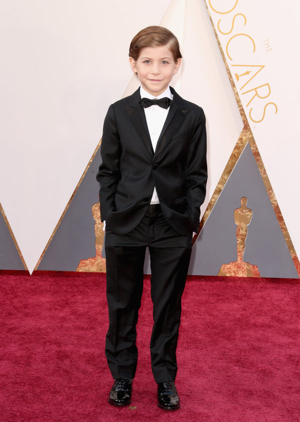 HOLLYWOOD, CA - FEBRUARY 28:  Actor Jacob Tremblay attends the 88th Annual Academy Awards at Hollywood & Highland Center on February 28, 2016 in Hollywood, California.  (Photo by Todd Williamson/Getty Images)