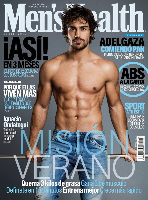 Ignacio-Ondategui-Mens-Health-Spain-April-2016-Cover-Shirtless-Denim
