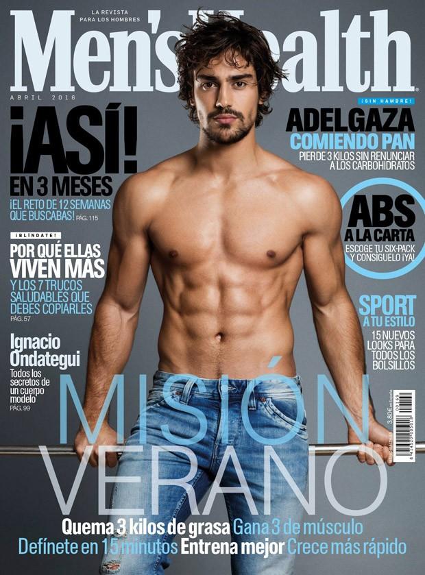 Ignacio-Ondategui-Mens-Health-Spain-April-2016-Cover-Shirtless-Denim